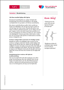 Träff 3. Pass 2. Faktablad. Muskelträning